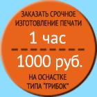 Заказать срочное изготовление печати на оснастке «Грибок» за 1000 руб.