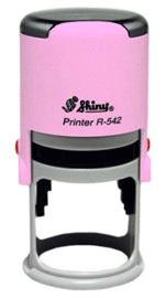 Гламурная печать на оснастке Shiny DELUX Pink
